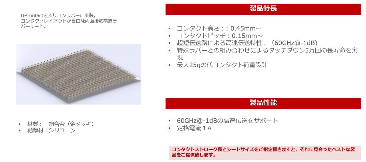 高周波導電性ラバーシート<br /> U-Rubber
