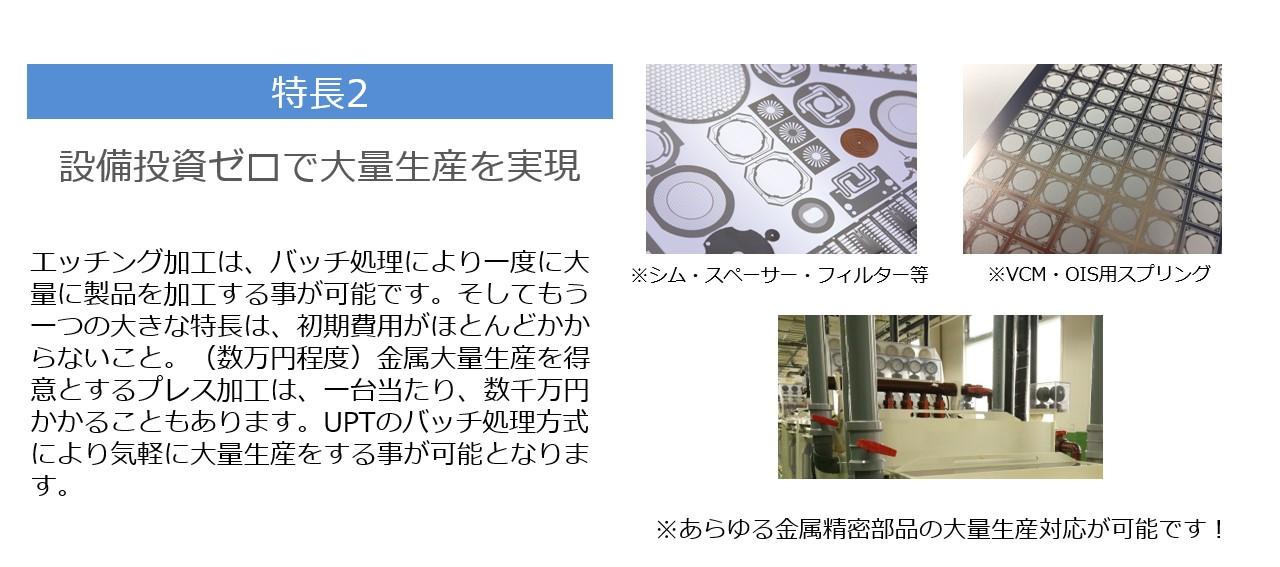 特長2  設備投資ゼロで大量生産を実現<br />